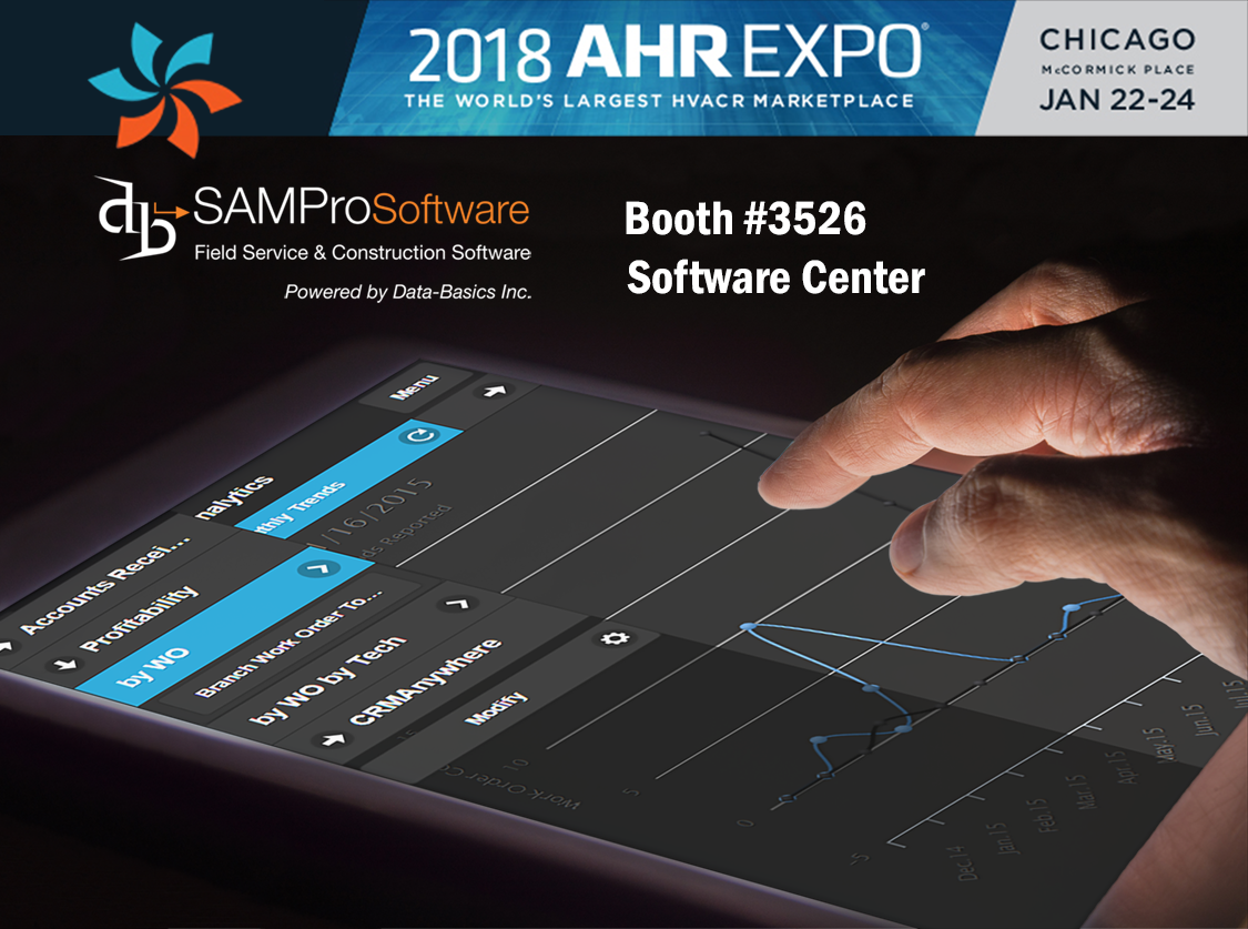 Learn more about SAMPro accounting software for services companies at AHR Expo 2018 in Chicago