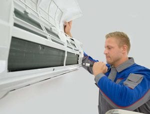 Image of an HVAC contractor. Data-basics provides premier field service software and HVAC management software for HVAC professionals.