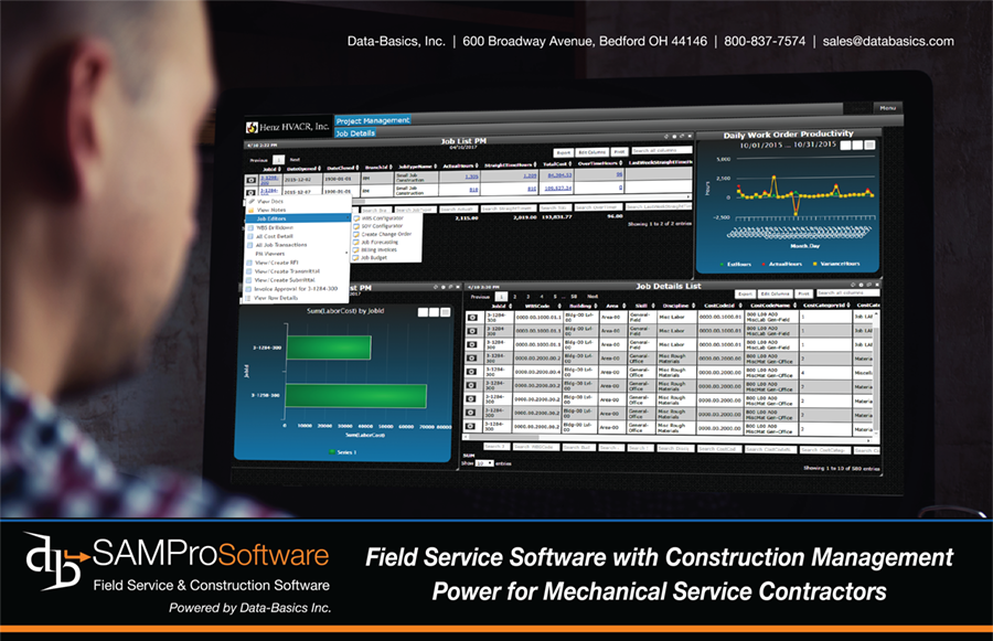 The complete SAMPro ERP field service software system.
