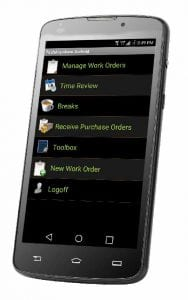 Mobile Field Service Software for technicians can be used on any wireless android device.
