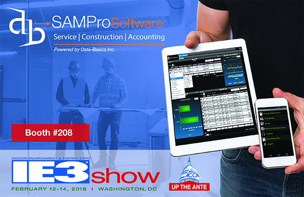 Data Basics Inc displays SAMPro Service Management Software at AHR 2018