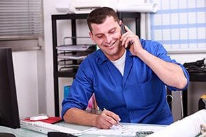 HVAC service manager using SAMPro software for accounts receivable.