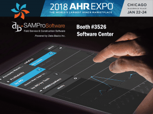 Service and Construction Management Software at AHR Expo 2018