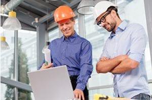 Contractors using a self service portal to check maintenance history.