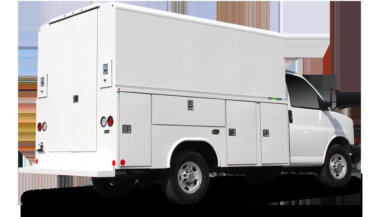 HVAC company fleet vehicle using fleet management software by Data-Basics
