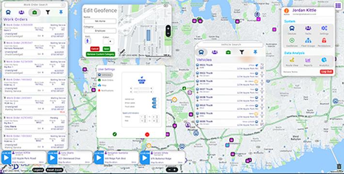 Dispatcher Legend Screen Fleet Management Software