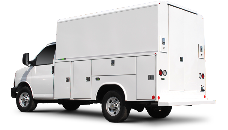 HVAC company fleet vehicle using fleet management software by Data-Basics